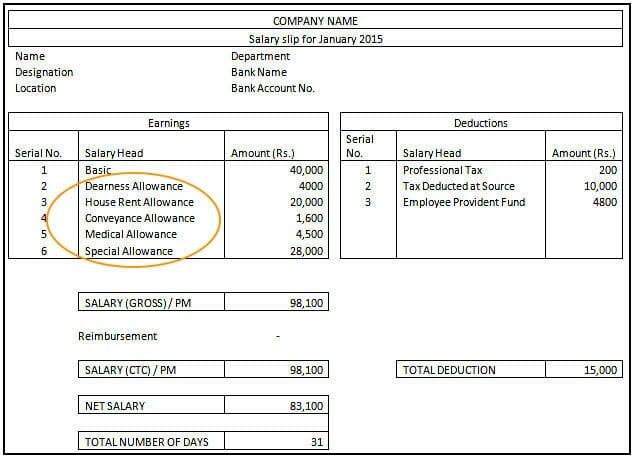 Allowances - Salary Slip