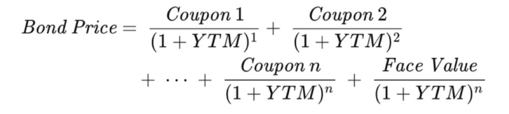 bond price formula